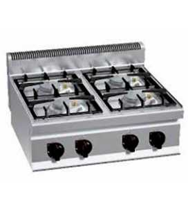 Cocina Industrial Sobremostrador a Gas 4 Fuegos HIGH POWER Fondo 700 Bertos