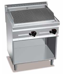 Barbacoa Industrial a Gas con Mueble 800 Bertos PLG80M/G